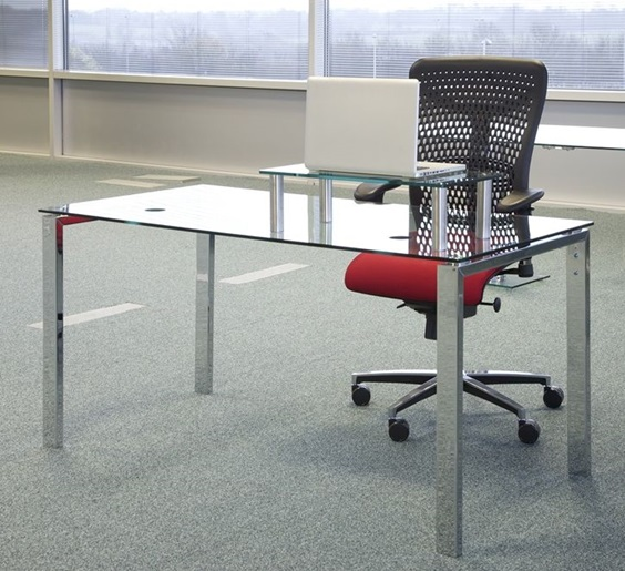 Glass Office Desk - RP Flite