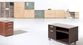 office storage, office screens, office furniture, wood office storage and screens, RP Woo18